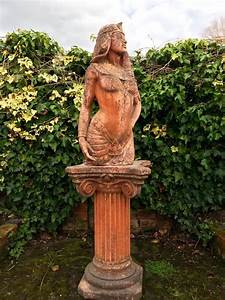 Antique, Garden, Statue, Egyptian, Revival, Pink, Concrete, Victorian, At, 1stdibs