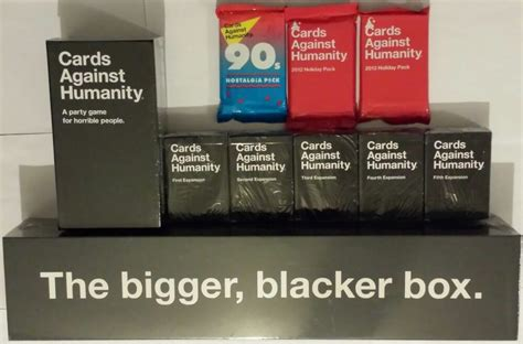 Maybe you would like to learn more about one of these? Cards Against Humanity Complete Set Expansions 1-5 Bigger Blacker Box New CAH | eBay