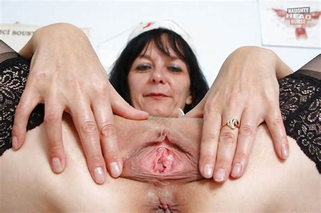 #Sweet #Mature #Nurse #Spreads #& #Toys #With #Her #Smooth #Dripping