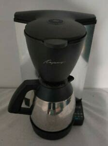 Thermal carafes are thicker, usually with an opaque, outer wall of brushed aluminum and an inner lining of stainless. Capresso 440 Coffee Maker with Thermal Carafe - Works Great 527534817091   eBay