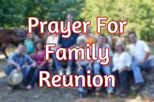 Prayer For Family Reunion