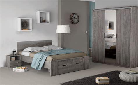 photo de chambre adulte chambre adulte complète contemporaine chêne prata