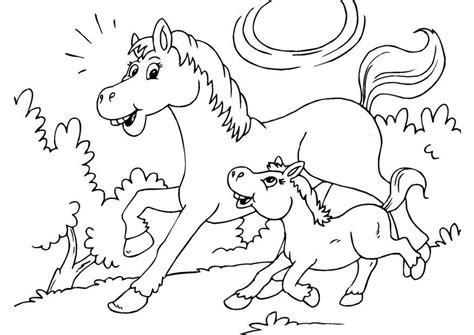 Ridder te paard bij kasteel kleurplaat 1024—1440 thema. Kleurplaat paard en veulen. Gratis kleurplaten om te ...