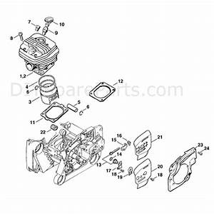 Stihl Ms 660 Chainsaw  Ms660 Magnum  Parts Diagram  Cylinder