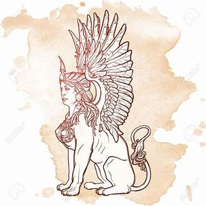 Sphinx Mythical Creature Drawing At Getdrawings