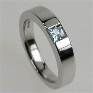 times square 4 ring in white gold princess cut With gay mens wedding ring sets