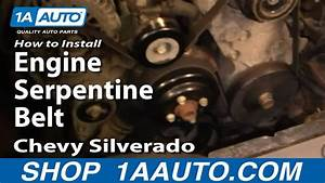 How To Install Replace Engine Serpentine Belt Chevy