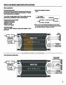 Wiring Diagram Database  Hifonics Brutus Amp Wiring Diagram