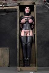 Bondage corset latex leather