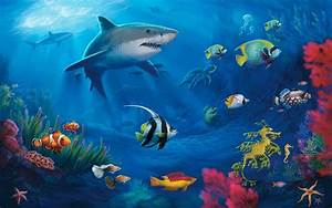 Underwater Sea World Fish Animals Wallapper ...