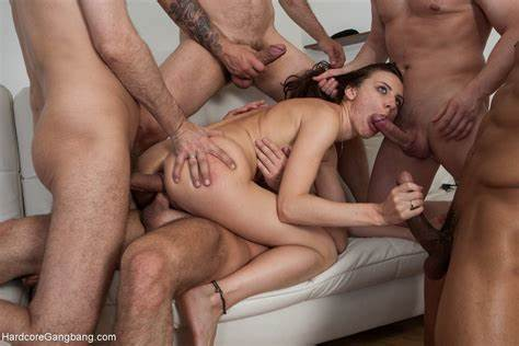 Gangbang Butt Girlfriend Are Playing With Shaved Pussies