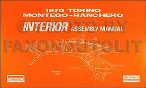 1970 Falcon  Fairlane  Torino  Ranchero  Montego And