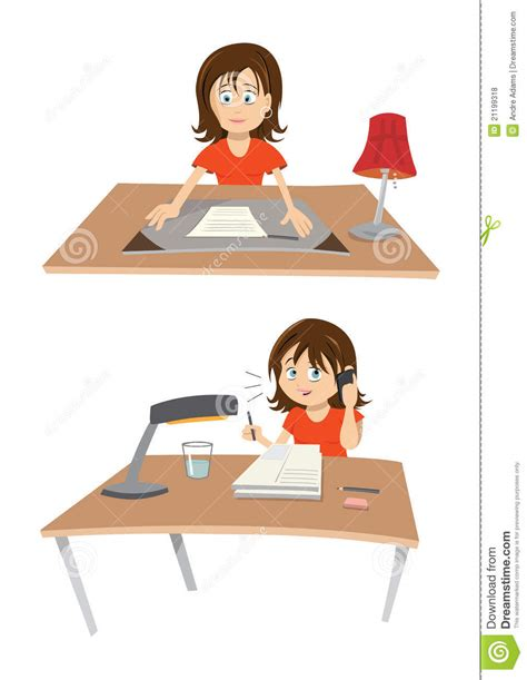 femme au bureau femme au bureau photos libres de droits image 21199318