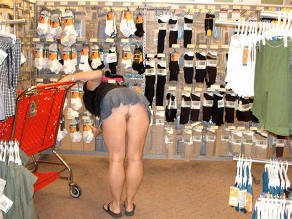#Hot #Milf #Shopping #With #No #Panties