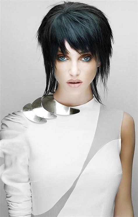 Large image of Short Black straight hairstyles provided by