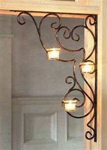 fleur de lis hierro forjado pinterest wall candle With kitchen colors with white cabinets with wrought iron votive candle holders
