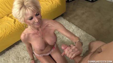 Plump Granny Handjob Junior Dick