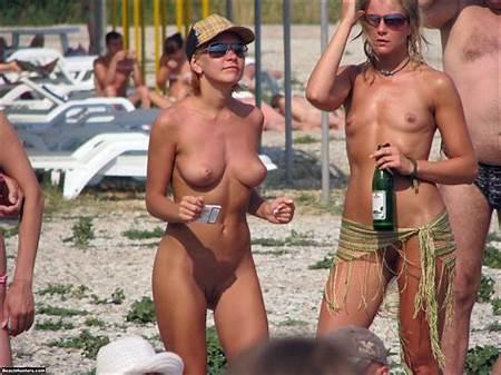 Nude Beach Teen Volleyball