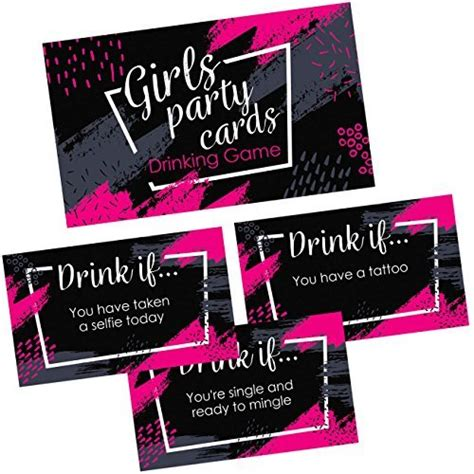 Naughty players take a drink! Girls Party Drinking Games Cards - 36 Funny & Naughty Adult Drink If Cards for B - Other Card ...