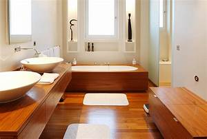 Et pourquoi pas une salle de bain en bois astuces for Salle de bain design bois
