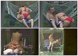 Neighbors having sex outdoors