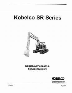 Kobelco Sr70  Sr115  Sr135  Sr200  Sr235 Excavator Service