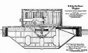 Cutaway Diagram Of The Historic Uss Monitor