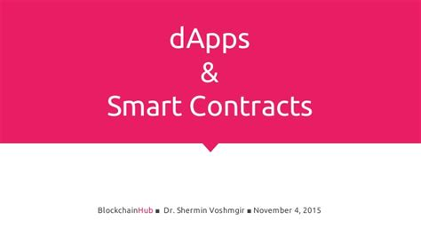 The world beneath the blockchain and smart contracts is full of code and technical knowledge. Smart contracts & dApps