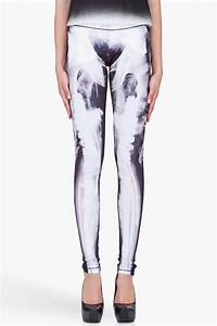 Mcq Xray Print Stretch Leggings in Black | Lyst