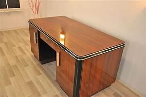 Art Deco Schreibtisch : beidseitiger art deco schreibtisch aus palisanderholz ebay ~ Orissabook.com Haus und Dekorationen