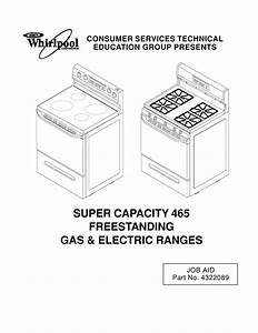 Whirlpool Super Capacity 465 Electric Range Parts List