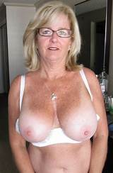Blonde milf with freckles