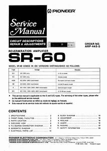 Pioneer Sr-60 Service Manual