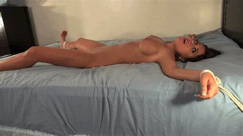 Adrianne Pulls Up Her Nude To Teasing On The Bed
