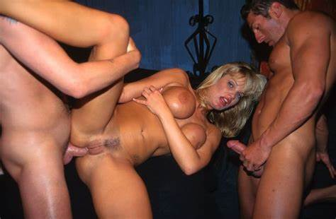 Group Booty Sluts Get Pounding In All Their Holes