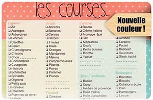 Liste De Courses À Imprimer Gratuitement : liste de courses imprimer avenue des capucines ~ Nature-et-papiers.com Idées de Décoration