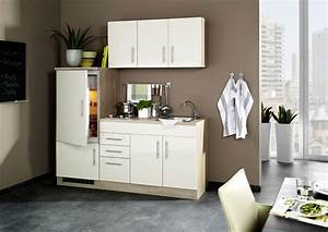 Kühlschrank 180 Cm : hochglanz creme singlek che 180 cm mit k hlschrank ~ Watch28wear.com Haus und Dekorationen