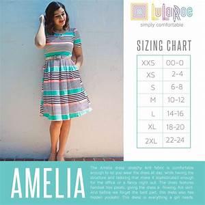 Lularoe Amelia Dress Sizing Chart Lularoe Amelia Dress