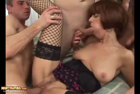 Pervert German Foursome Banged Foxy Granny In Butt Gang Bang Xxxbunker