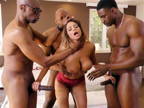Brooklyn Chase Gangbanged By Blue Haired