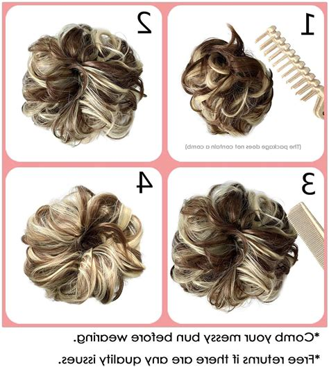 Lazy buns, in particular, have been adored by women of all ages for as far back as we can remember. Messy Bun Hair Piece Thick Updo Scrunchies Hair Extensions ...