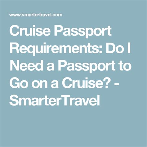 We did not find results for: Cruise Passport Requirements: Do I Need a Passport to Go on a Cruise? - SmarterTravel | Passport ...