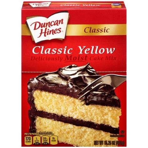Its fair use no copyright is claimed and to the extent that material may appear to be infringed , i assert that such alleged. Duncan Hines Cake Mix, Classic Yellow, 15.25 Oz | Cake mix ...