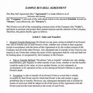 buyout agreement template free kidscareerinfo With 7 12 documents