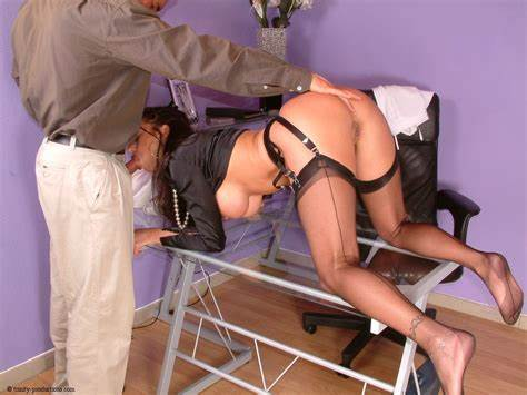 Milfs Woman Fucking On Satin Office Completely Clothed Stuffed On Desk