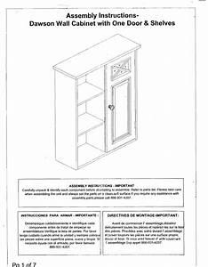 Lista Cabinet Parts List