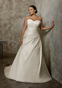 plus size luxe taffeta wedding dress with lace style With mori lee wedding dresses discontinued styles