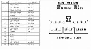 Honda Accord Car Stereo Wiring Diagram