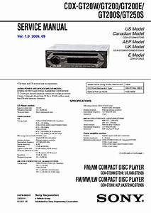 Sony Cdx Gt200 Wiring Diagram