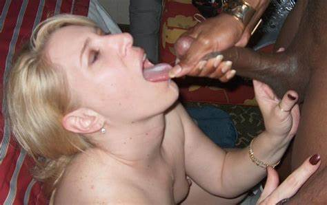 Eating Jizz After Orgy Pigtail Vixen Eats Blacks Sperm